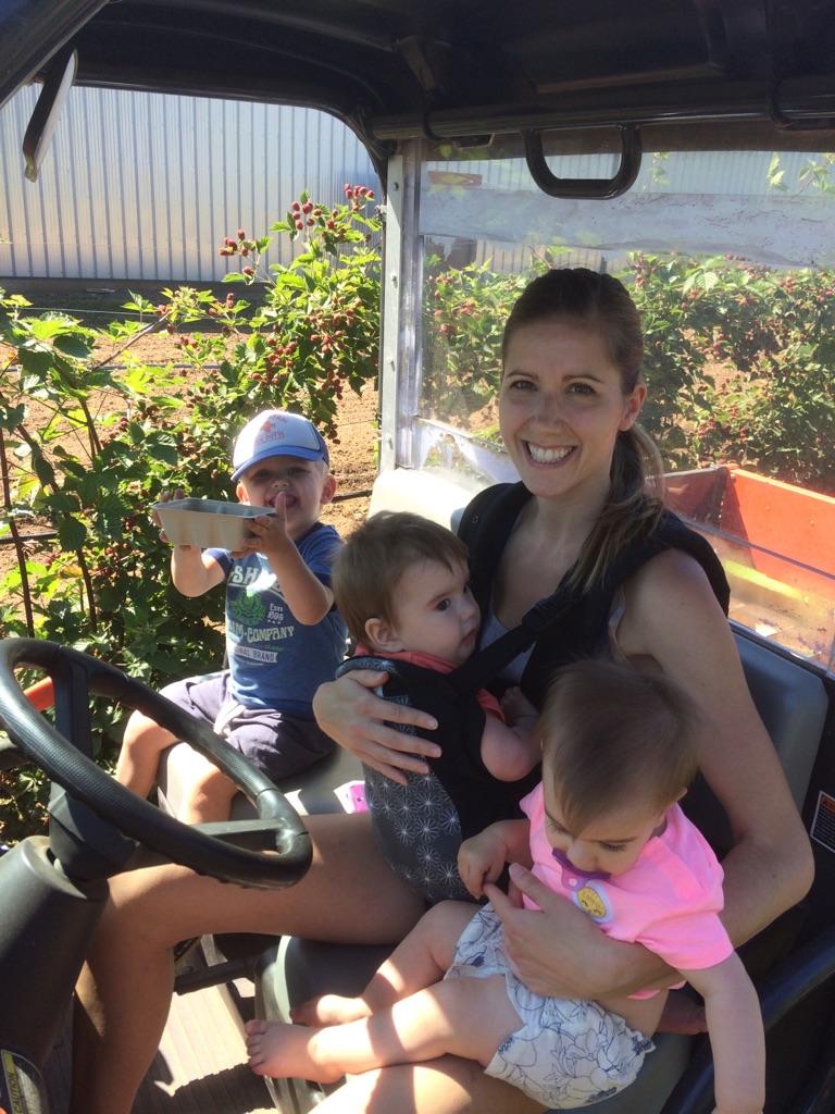 Our son Steve's family at Neufeld Farms.