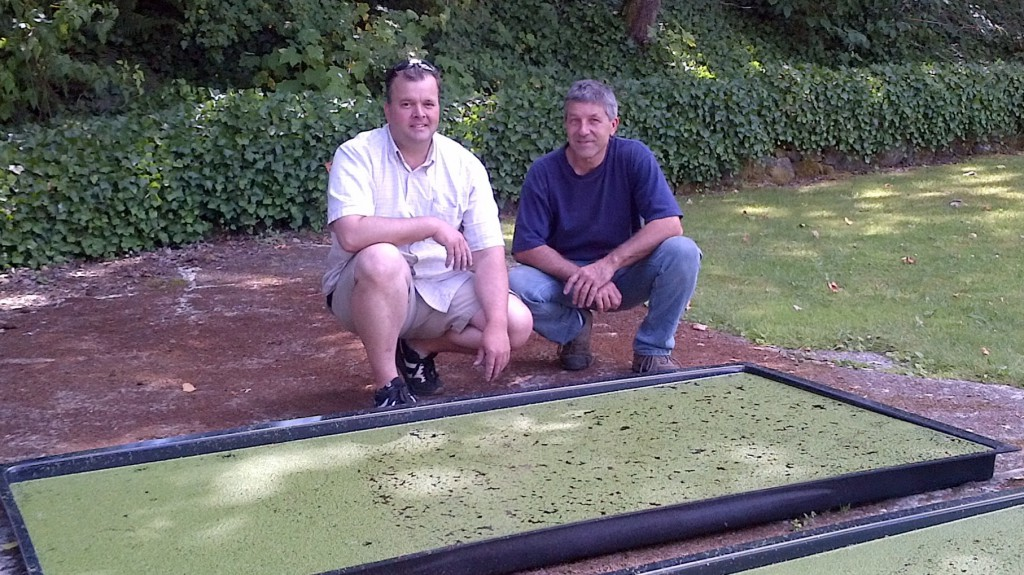 Chris Bush and Neil with Duckweed