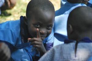 student at Kibaale School