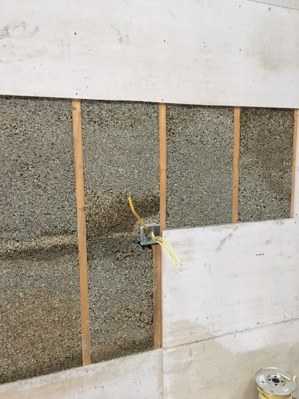 hempcrete in the wall